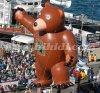 Orso gigante di volo, aerostato gigante dell'elio di parata per la pubblicità del K7155