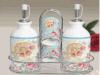 Бутылка масла опарника масла инструмента кухни домочадца керамические и бак перца при напечатанный логос