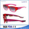 Promoção vermelha polarizada da venda por atacado do frame dos óculos de sol cabida sobre óculos de sol