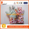 Перчатки сада, конструкция цветка, многоточия на Plam, работая перчатки PVC (DGB101)