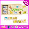 2015 past de Beste Houten Domino Van uitstekende kwaliteit van het Jonge geitje van de Verkoop, het Nieuwe Stuk speelgoed van de Domino van de Kinderen van het Ontwerp Kleurrijke, de Grappige Houten Domino W15A030b van het Stuk speelgoed aan