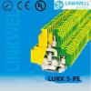 Bloco de terminais elétrico de trilho DIN (LUKK5-PE)
