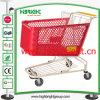 Chariot en plastique à achats de supermarché d'usine de la Chine