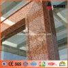 Painel de sanduíche de alumínio da textura do granito da decoração da porta do edifício do tamanho padrão