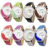 Los relojes ocasionales de la alineada de las mujeres del reloj del Rhinestone de las mujeres de la correa de cuero de la manera de Vansvar miraron Relogio caliente Feminino