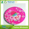 Placa de papel disponible redonda del vajilla del color de rosa de papel del fabricante para el partido
