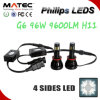Ampolas do diodo emissor de luz do auto carro do farol H11 de Phillips 96W 9600lm
