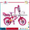 12 14 16 bicicleta de la muchacha de 20 pulgadas con la bicicleta delantera o trasera de los niños de la buena calidad de la cesta embroma la bici
