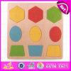 2015 enigma Jigsaw da forma da madeira compensada para miúdos, enigma geométrico de madeira para crianças, brinquedo de madeira engraçado W14A128 das formas do enigma da forma de DIY