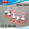 Rodillo de aluminio de nylon de la polea de la protección del cable
