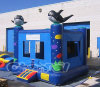 Inflable casa de la despedida Moonwalk Seaworld Jumper 15 '