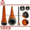 El excavador parte el cilindro hidráulico