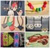 목제 Beads Necklace 및 Bracelet