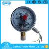 Manomètre de mesure de vide de Ynxc100 100mm avec le bas en laiton d'Internals de cas électrique du contact solides solubles
