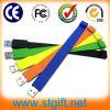 Bracelete da vara da movimentação da pena da movimentação do flash do USB da faixa de pulso do silicone do USB