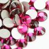 Ss3 Ss34 1440PCS zum Beutel-flache Rückseiten-Kristall bördelt Nagel-KunstRhinestone (FB Rose)