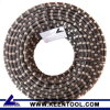 Rubber+Flat Spring Diamond Wire Saw para Reinforced Concrete