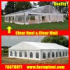安い透過明確な屋根20X30m党玄関ひさしの結婚式のテント
