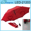 Paraguas ligero plegable de 2 LED (LED-21203)