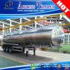 Tri d'essieux de l'acier inoxydable 40cbm de carburant /huile de camion-citerne remorque de camion semi
