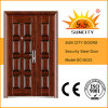 Exterior di grande misura Door Iron Single Door Design Metal Door per Apartment (SC-S023)