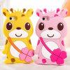 3D Cute Bigeyes Sika Deer Silicone Caso Cover para el iPhone 6 6 Plus