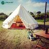 tenda di Bell di campeggio del cotone di 4m della famiglia impermeabile della tela di canapa con il foro per il tubo della stufa