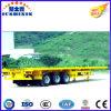 Lagere Prijs 3 Semi Aanhangwagen van het Bed van de Container van Assen 40FT de Vlakke