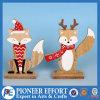 Diseño de madera del Fox y de los ciervos para el ornamento del hogar de la Navidad