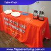 6FT Wetter-beständige Dekoration-Polyester-Tisch-Tücher, die Tisch-Deckel Wedding sind