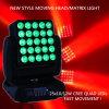 Professioneel de 25X10-watts RGBW van het Stadium Licht LEIDEN van de Kleur van de Vierling Bewegend Hoofd