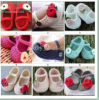 かぎ針編みBaby Shoes Comfortable Infant Girl Flower Leaves 0-12m Cotton First Walker Shoes