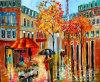 2013 het Hete Olieverfschilderij van het Landschap van de Straat van de Orde Met de hand geschilderde voor Decor