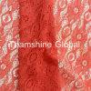 Lacet rouge en nylon africain de tissu de coton (NF1009)