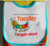 Custom Made Customized Design imprimé coton Terry Cute Cheap Infant Drooler Bibs