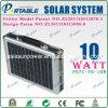 Système du d'éclairage 10W à la maison solaire portatif (PETC-FD-10W)