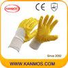 De antislip Gele Handschoenen van het Werk van Jersey van het Nitril van de Bedrijfsveiligheid (53006)