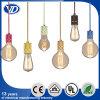 Luz pendiente de la vendimia colorida con el sostenedor de la lámpara del metal
