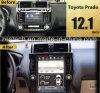 12.1 automobile piena DVD Multimeida di Andorid 6.0 dello schermo di tocco di pollice per Toyota Prado 2009-2013