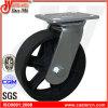 6 industrielle Roheisen-Rad-Hochleistungsfußrollen des Schwenker- X2