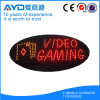 Oval de Hidly o sinal video do diodo emissor de luz do jogo de Ásia