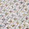 Mosaico di vetro Polished madreperlaceo 300mmx300mm delle coperture del mare