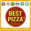 صنع وفقا لطلب الزّبون مستديرة بيتزا معدن قصدير إشارة لأنّ مطعم يعلن لوح