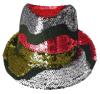 Золотистый Paillette новый масленицы пурпуровый и зеленый шлем