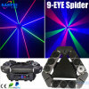 Luz principal movente do feixe da aranha do laser 9PCS do RGB