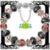 Bracelete de prata do grânulo do encanto de Halloween (AE61)