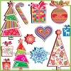Weihnachtsfenster-Funktionseigenschaft-Entwurf erstellen Ihre eigenen Aufkleber