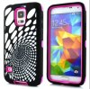 Caso más nuevo diseño híbrido de silicona para Samsung Galaxy i9600 S5
