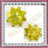 Камень отрезока цветка причудливый формы CZ золота специальный