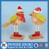 Diseño lindo de madera de los pájaros para la decoración del hogar de la Navidad